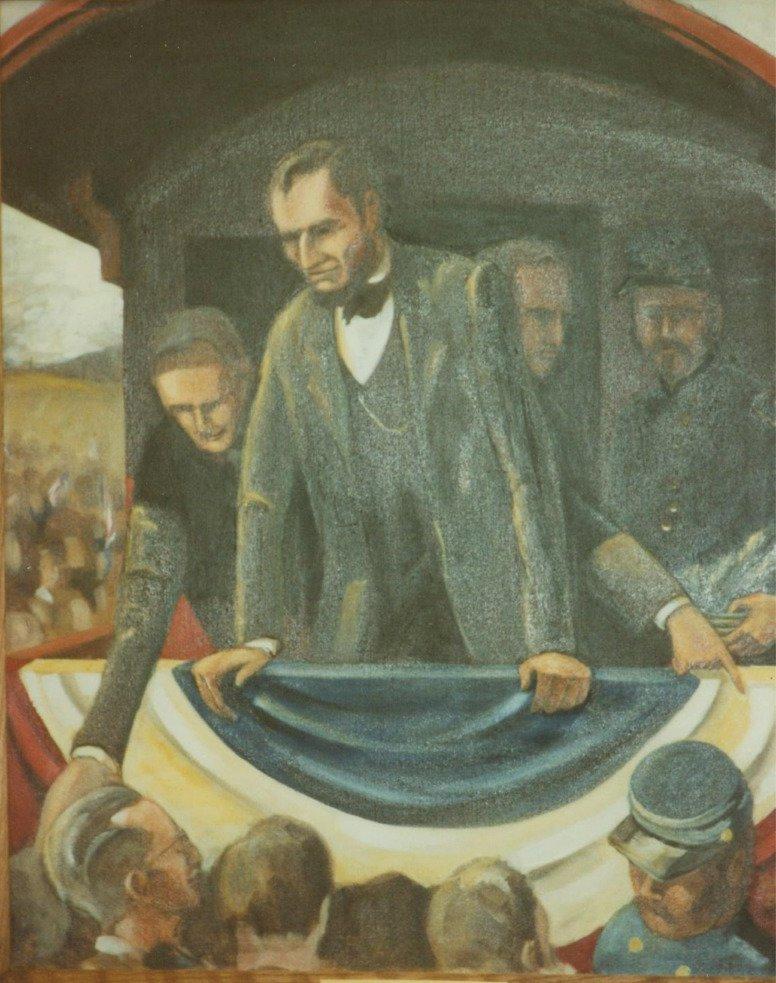 An Impromptu Speech From Oil Painting
